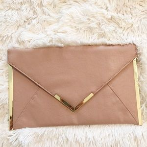 Asos Blush Pink Envelope Clutch
